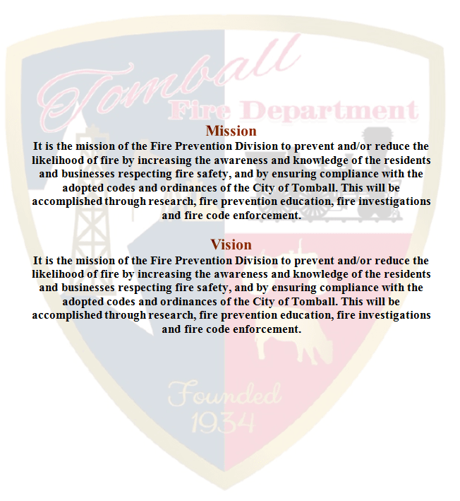 Fire Prevention Mission and Vision